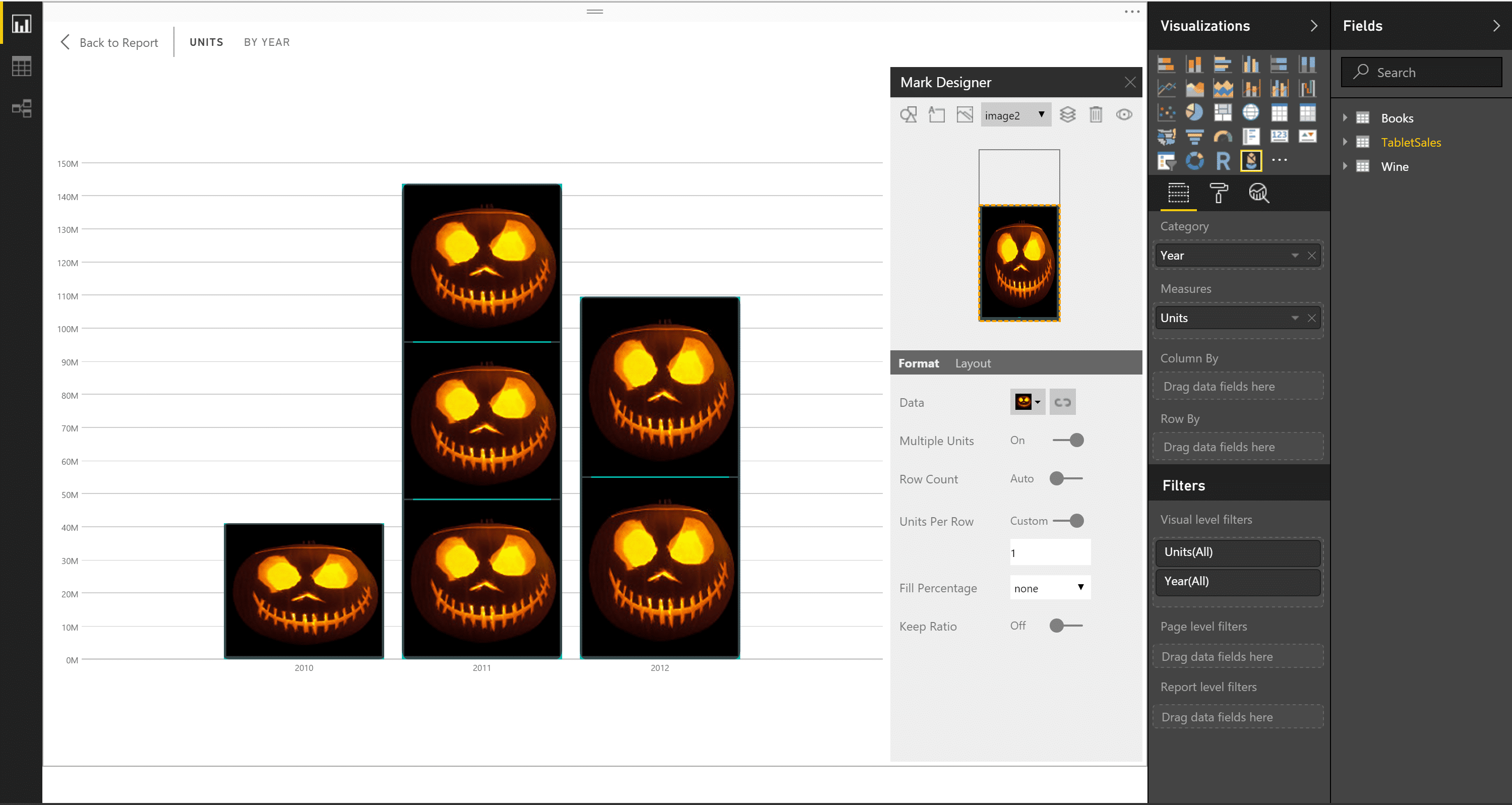 power bi infographic designer