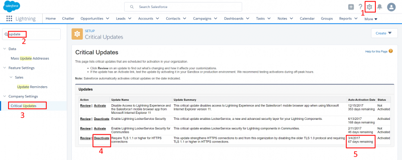 Enable TLS 1.0 in Salesforce till Power Query v2.40 is released