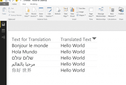 Translate text in Power BI with Azure Translator API