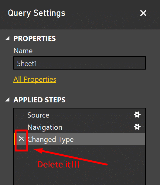 10 mistakes you do in Power BI and Power Query in Excel - Allow automatic changes of column types