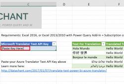 Microsoft Text Translator API in Excel
