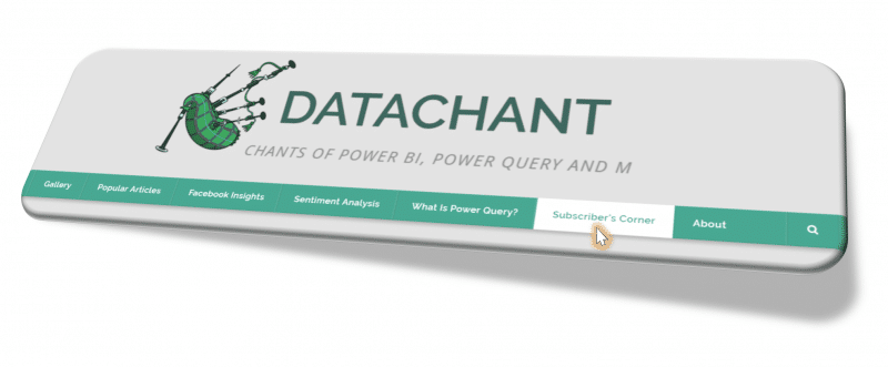 DataChant Subscriber's Corner