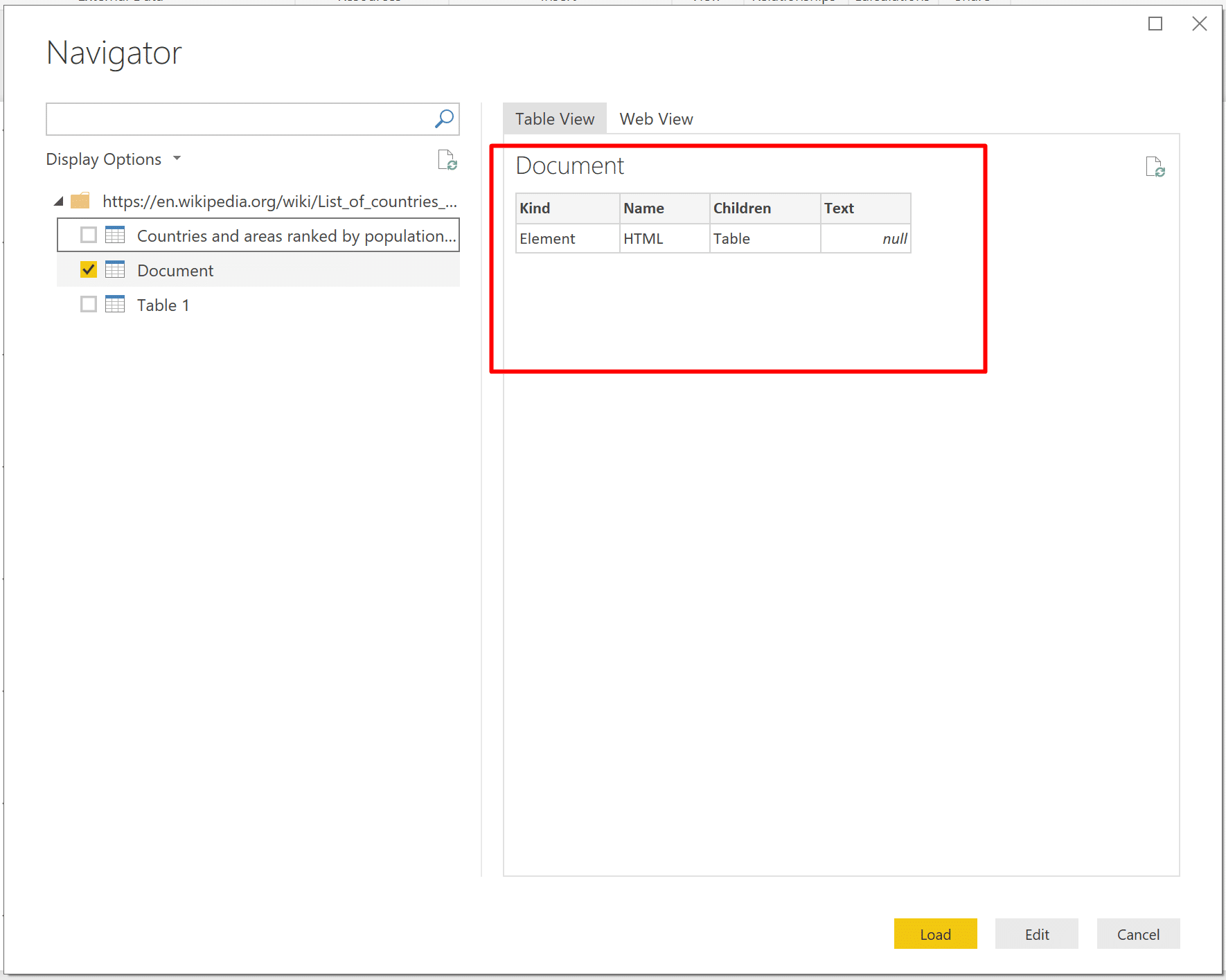 Web Scraping in Power BI and Power Query