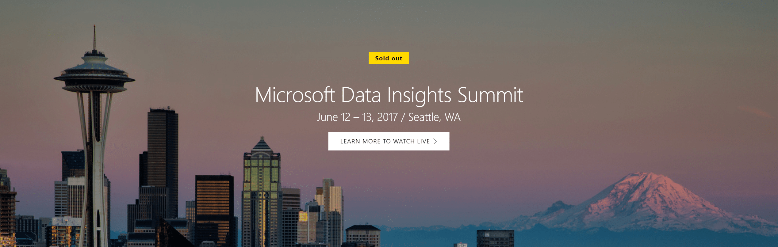 Microsoft Data Insights Summit