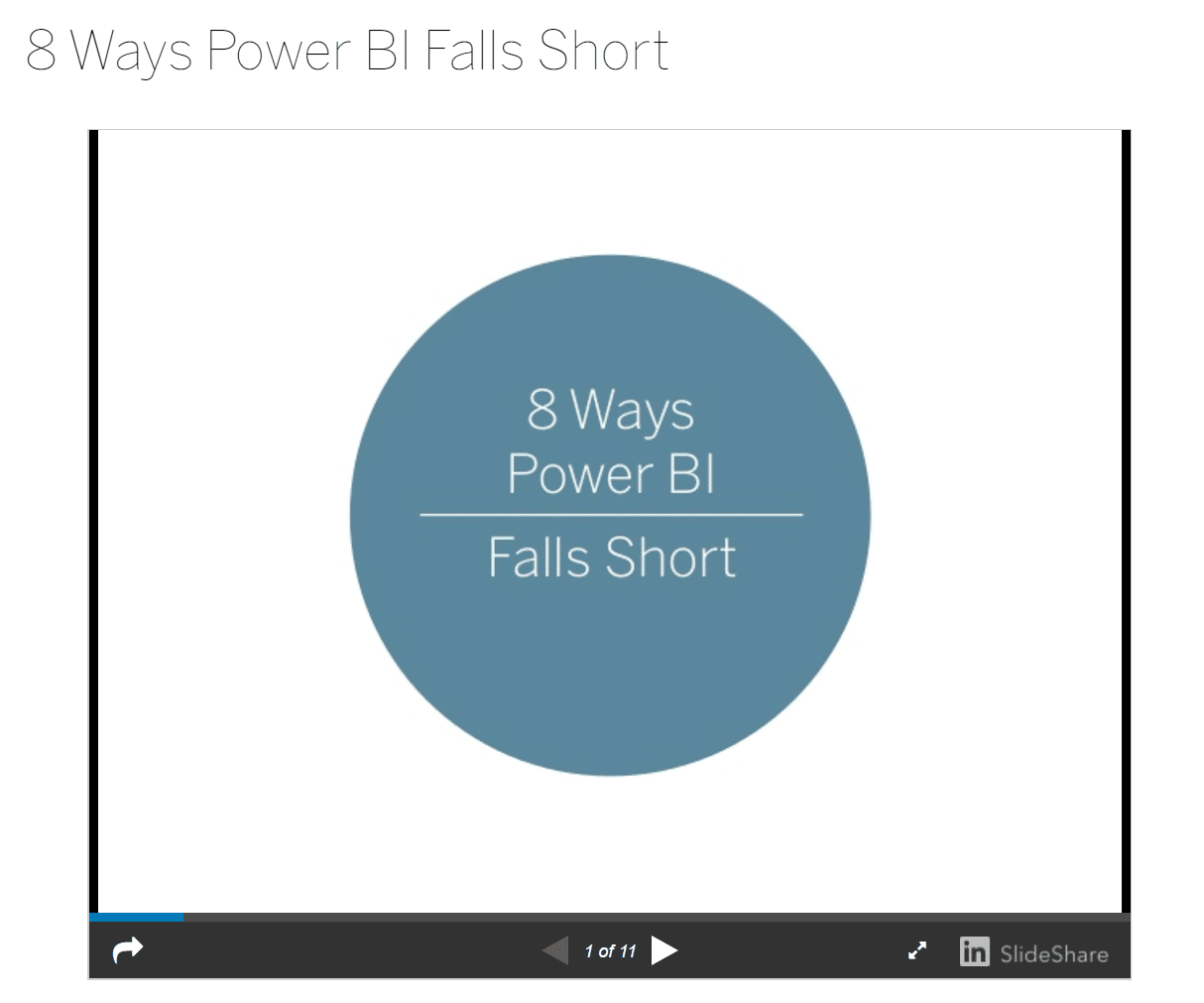 8 Ways Power BI Falls Short - Not