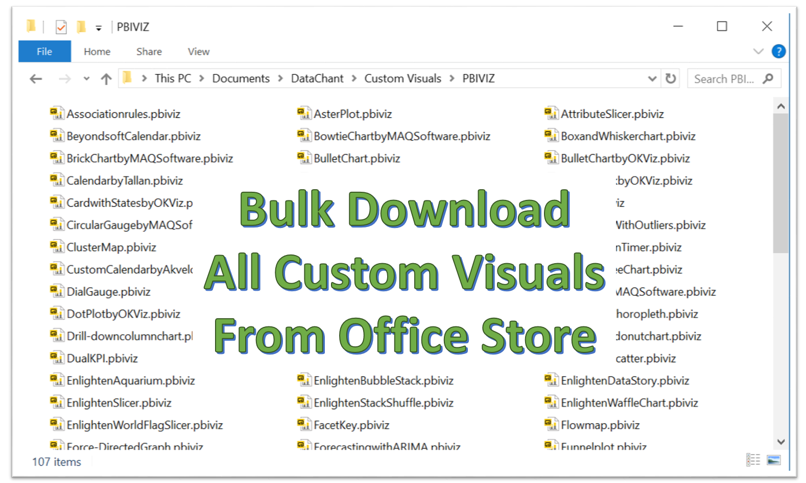 Bulk Download of Power BI Custom Visuals - DataChant
