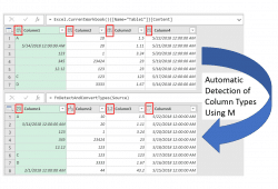 Automatic Detection of Column Types in Power Query using M