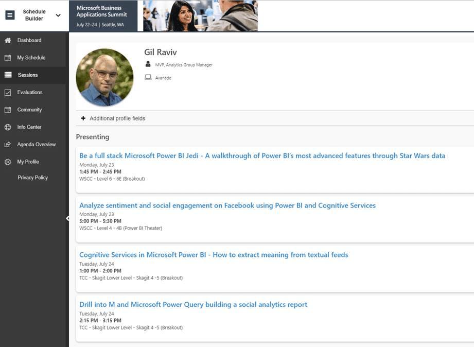 Gil at Microsoft Business Applications Summit 2018