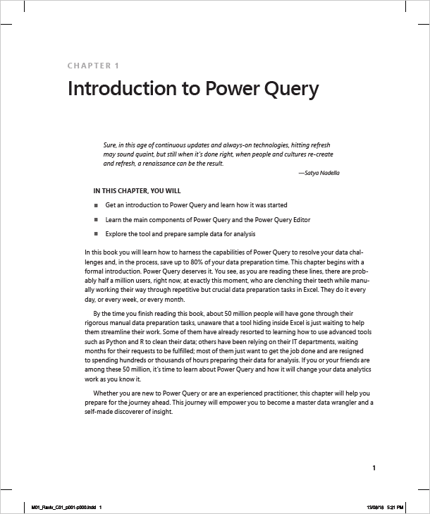 Power Query Book First Page Chapter 1