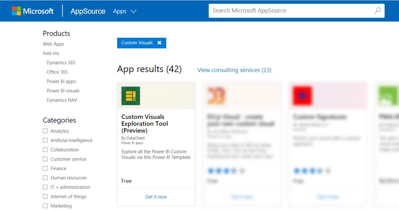 My First Template App - #PowerBI Custom Visuals Exploration