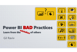 Bad Practices in Power BI